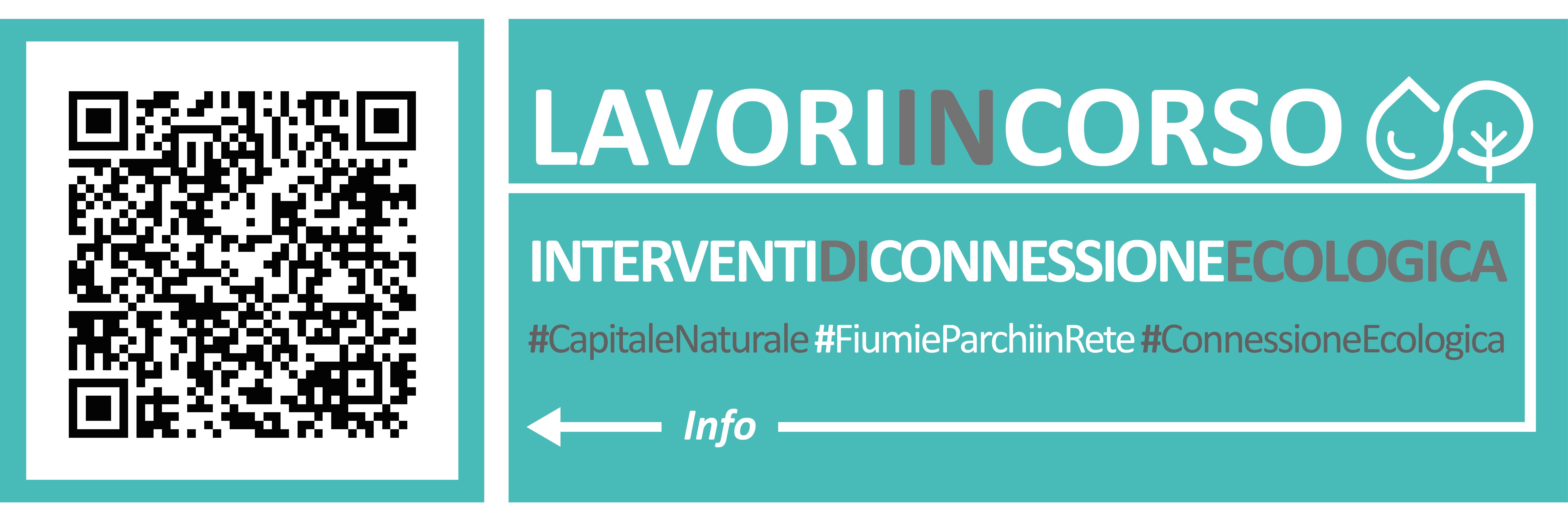 Banner QR code Lavori in corso - Fiumi e Parchi in Rete